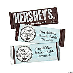 Personalized Grad Adventure Candy Bar Sticker Labels
