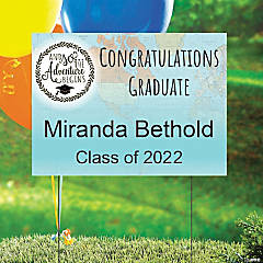 Personalized Graduation Adventure Yard Sign