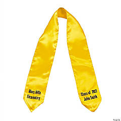 Personalized Graduation Stole