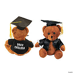 Personalized Graduation Stuffed Bear - Black