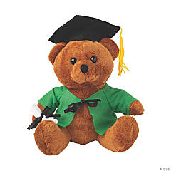 Personalized Graduation Stuffed Bear - Green