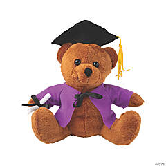 Personalized Graduation Stuffed Bear - Purple