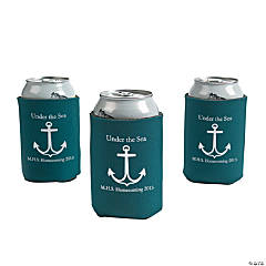 Personalized Green Anchor Can Covers