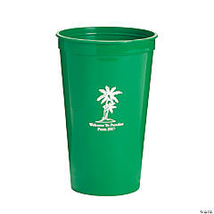 Personalized Green Luau Tumblers