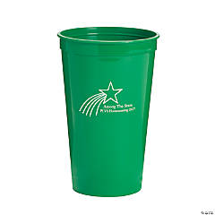 Personalized Green Shooting Star Tumblers