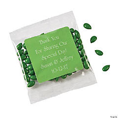 Personalized Green Wedding Candy Sunflower Seeds