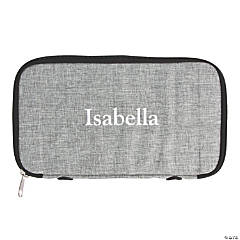 Personalized Grey Electronics Travel Organizer