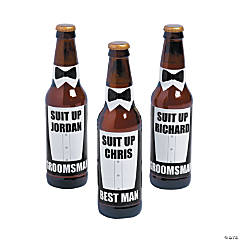 Personalized Groomsmen Suit Up Bottle Labels