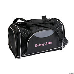 Personalized Gym Bag with Pink Flocking