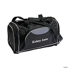 Personalized Gym Bag with White Flocking