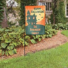 Personalized Halloween Garden Flag