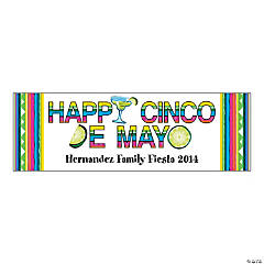 Personalized Happy Cinco De Mayo Banner