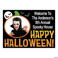 Personalized Happy Halloween Yard Sign