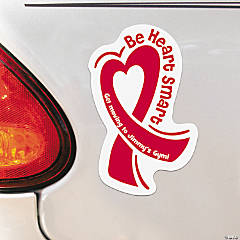Personalized Heart Ribbon Car Magnets