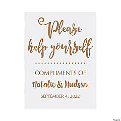 Personalized Help Yourself Wedding Sign