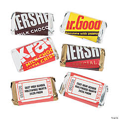 Personalized Hollywood Mini Candy Bar Sticker Labels