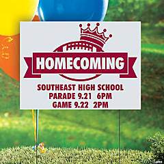 Personalized Homecoming Yard Sign