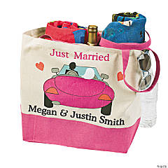 Personalized Honeymoon Beach Tote