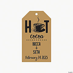 Personalized Hot Cocoa Favor Tags