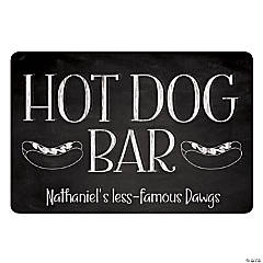 Personalized Hot Dog Bar Sign
