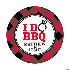 Personalized I Do BBQ Favor Stickers