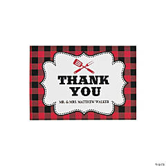 Personalized I Do BBQ Thank You Cards