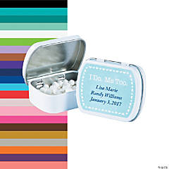 Personalized I Do/Me Too Mint Tins