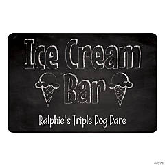 Personalized Ice Cream Bar Sign
