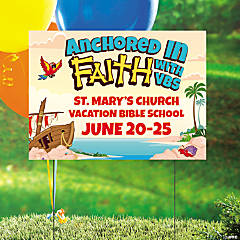 Personalized Island VBS Yard Sign