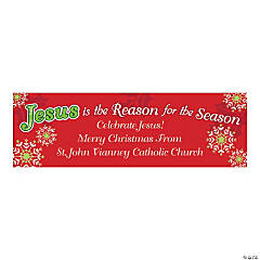 "Personalized ""Jesus Is the Reason For the Season"" Banner"