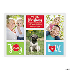 Personalized Joy & Love Christmas Cards