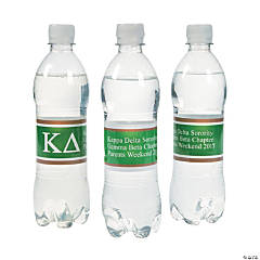 Personalized Kappa Delta Water Bottle Labels