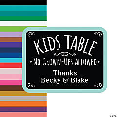 Personalized Kids Table Sign