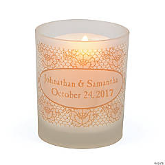 Personalized Lace Print Votive Holders