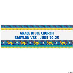 Personalized Large Babylon VBS Vinyl Banner