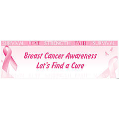 Personalized Large Breast Cancer Awareness Vinyl Banner