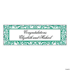 Personalized Large Emerald Swirl Banner