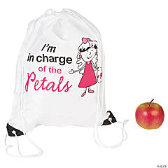 Personalized Large Flower Girl Drawstring Bags