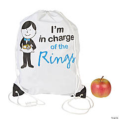 Personalized Large Ring Bearer Drawstring Bag
