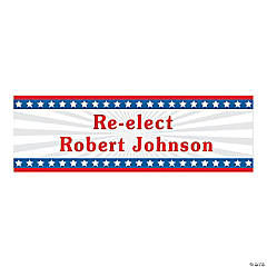Personalized Large Stars & Stripes Vinyl Banner