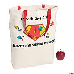 Personalized Large Super Powers Canvas Tote Bag