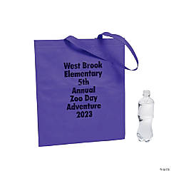 Personalized Large Tote Bags with Text Color Choice