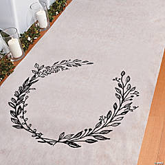 Personalized Laurel Leaf Aisle Runner