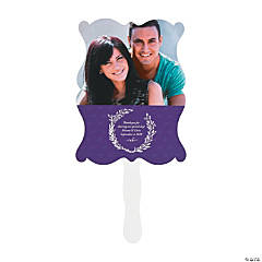 Personalized Laurel Leaf Wedding Favor Fans