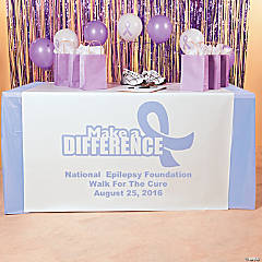 Personalized Lavender Awareness Ribbon Table Runners