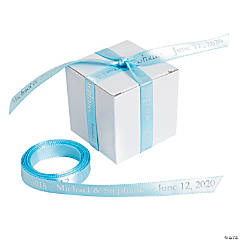 Personalized Light Blue Ribbon - 3/8
