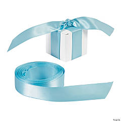 Personalized Light Blue Ribbon - 3/4