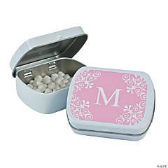 Personalized Light Pink Monogram Mint Tins