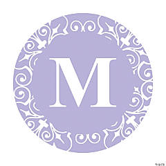 Personalized Lilac Monogram Favor Stickers