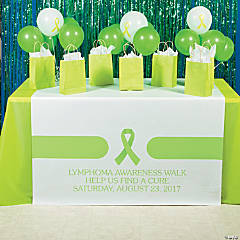 Personalized Lime Green Awareness Ribbon Table Runners